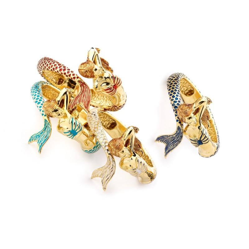 Bracciale Contrarié Sirena in oro giallo